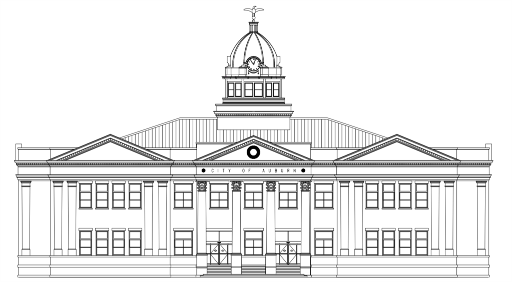City Hall Line Rendering