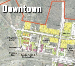 Potential for North Side existing downtown blocks