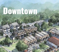 Rendering for potential existing Downtown area